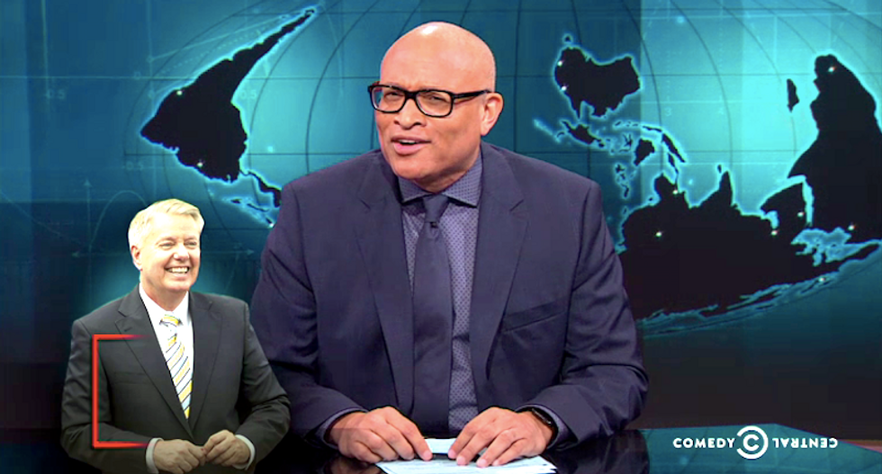 Larry Wilmore rips the media fascination with Lindsey Graham's 'rotating First Lady'