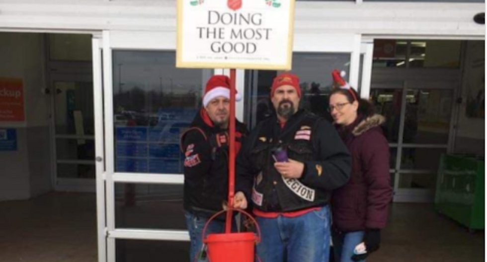 Salvation Army bell-ringers booted from Walmart after being outed as white supremacists