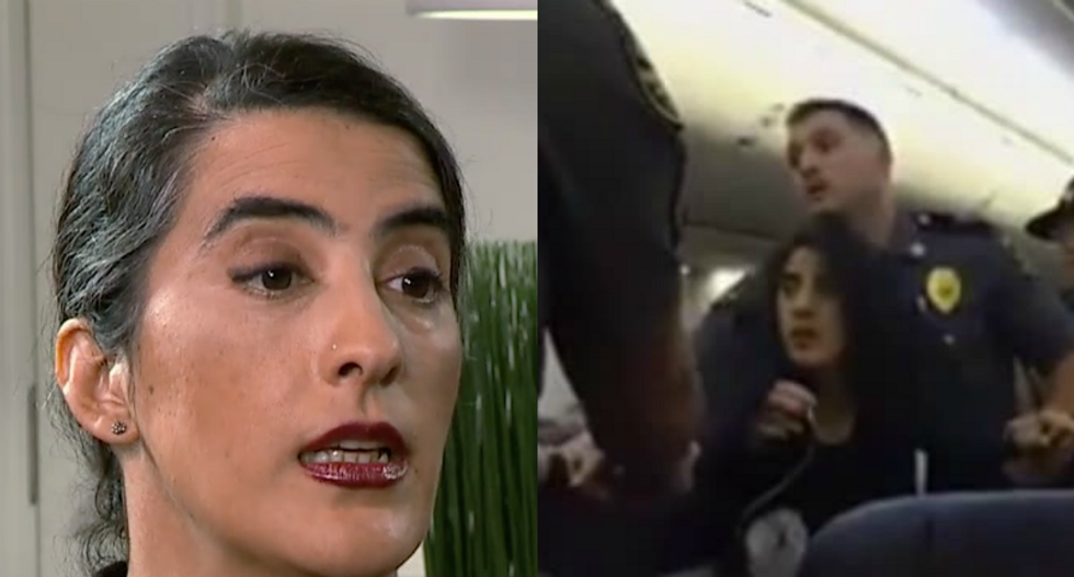 Pregnant airline brutality victim with 'pet allergy' claims security targeted her for being Muslim
