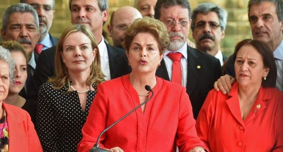 Dilma Rousseff blames 'paramilitary coup' after being stripped of Brazil's presidency