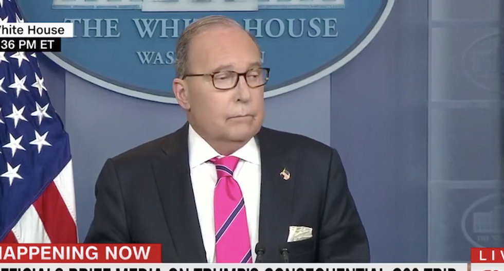 New White House press briefing rules immediately broken as Kudlow allows reporter to ask multiple questions