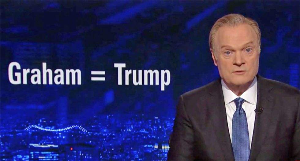 Lawrence O'Donnell makes a public request for mental health professionals to 'explain Lindsey Graham'