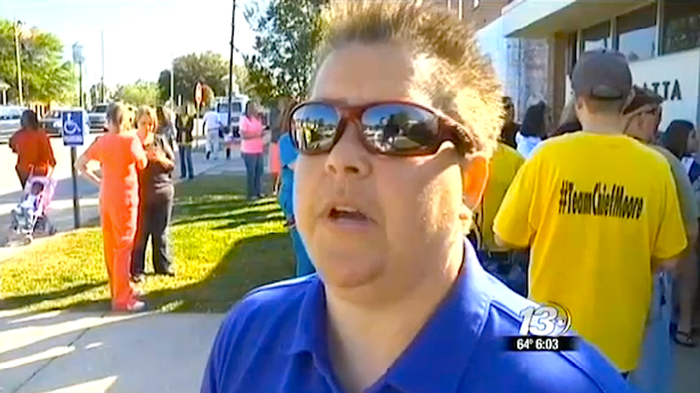 South Carolina town rallies outside town hall to support fired lesbian police chief