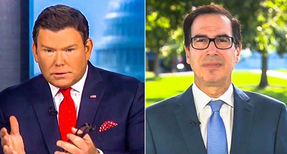 Fox News host to Mnuchin: 'Trump says he's against cancel culture' so why does he want our reporter fired?