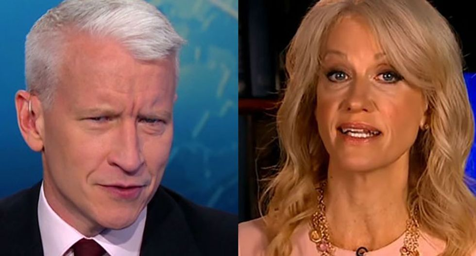 Anderson Cooper busts Trump campaign's Kellyanne Conway for peddling outright lies about abortions