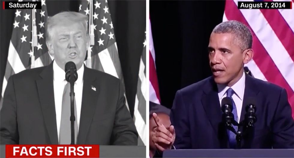 WATCH: CNN uses video to bust Trump for lying and stealing credit for veterans program signed by Obama