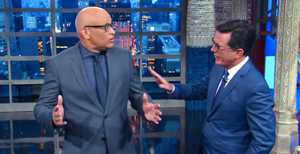 Larry Wilmore takes swipe at Comedy Central cancellation by 'stealing' Stephen Colbert's monologue