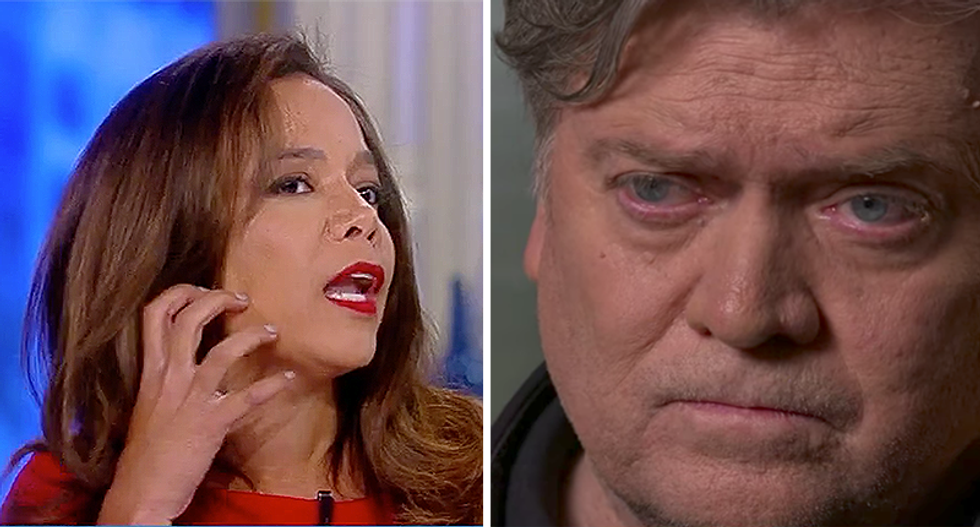 WATCH: 'The View' panel freaks out over the 'alien' vein on 'President Bannon's' face