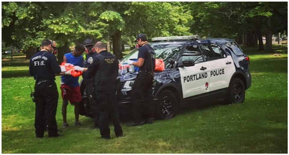 Two white men beat Black man with baseball bats in 'terrifying racially motivated attack' in Portland: witness