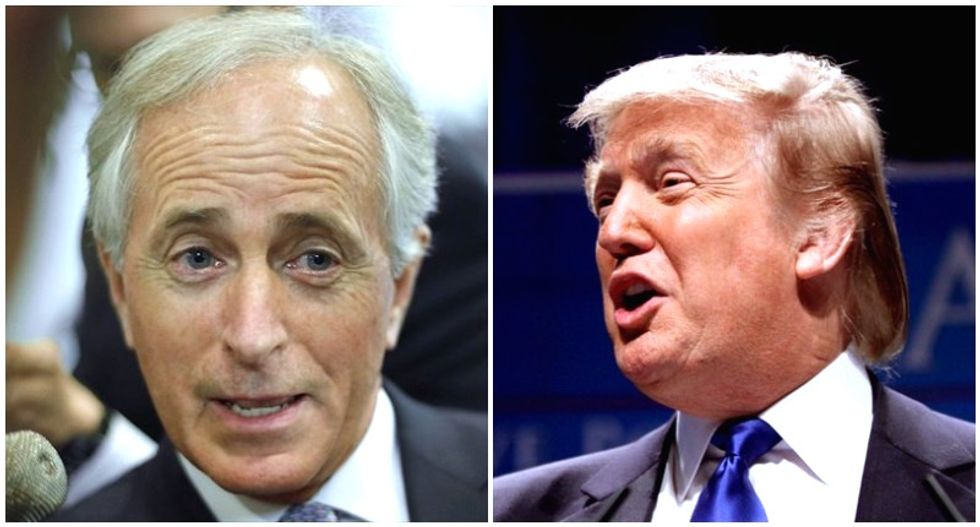 Trump lashes out at twice-elected Corker in angry tweets: 'Couldn't get elected dog catcher'