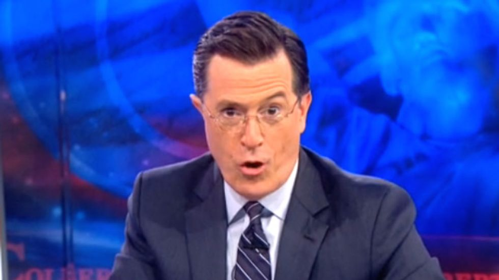 Stephen Colbert isn't too sure about Pope Francis welcoming Martians into Heaven
