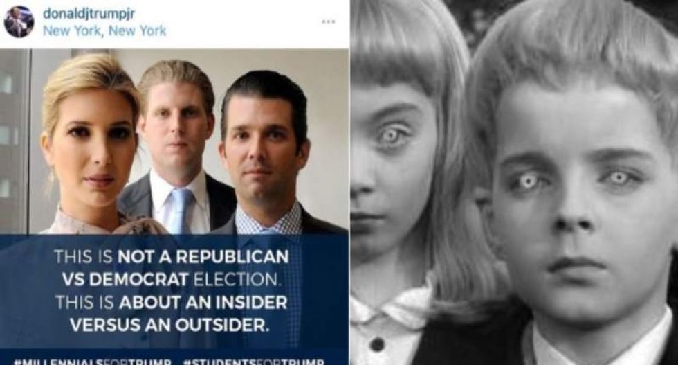Trump's kids try painting him as an 'outsider' -- and the Internet roasts them