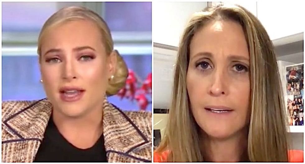 The View's Meghan McCain rips Melania Trump's friend over tell-all book -- and then gets patiently schooled