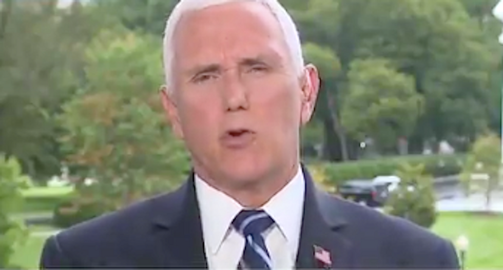 Mike Pence busted for 'flat-out lie' defending Trump from Woodward tapes: 'You are complicit'