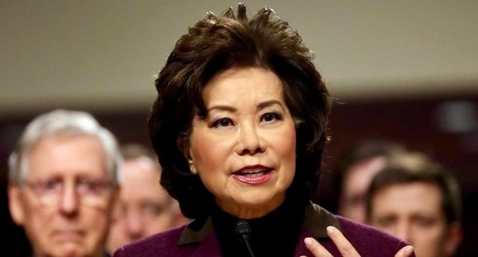 BUSTED: Elaine Chao denies ties to her family's shipping biz -- but she invited them to 2017 DOT event