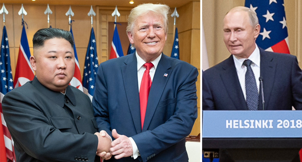 Trump praises two dictators in less than one minute at Michigan rally: Putin 'likes me -- I like him'