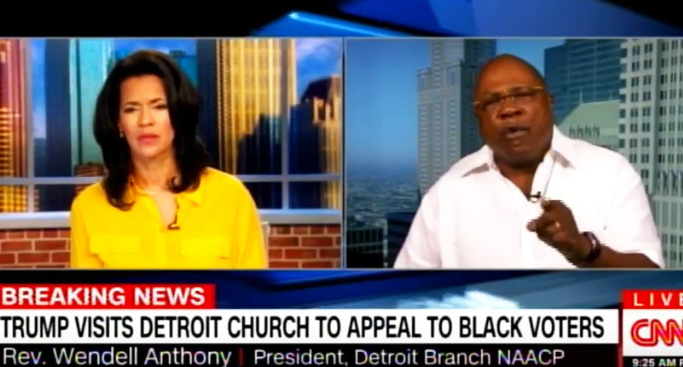 WATCH: Detroit reverend unleashes a righteous smackdown of Trump's 'scam' visit to a black church
