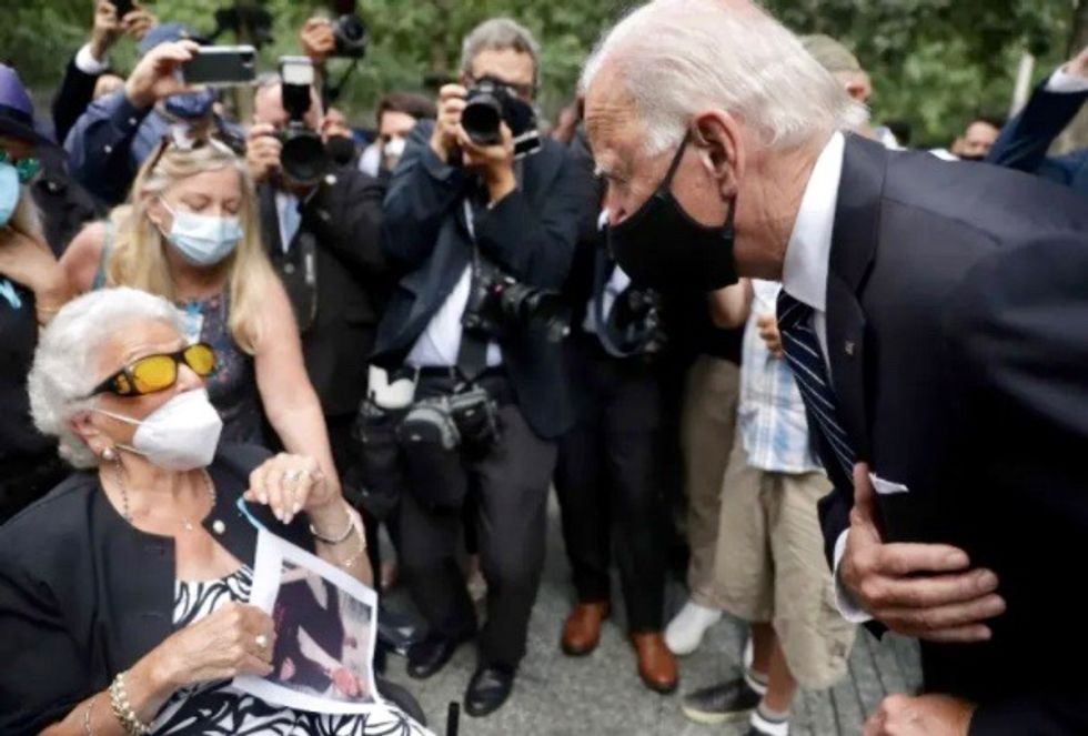 Joe Biden, at 9/11 ceremony, returns to strong suit: personal rapport