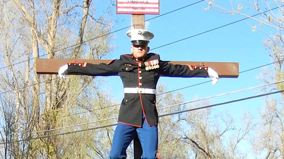 'Butt hurt' ex-Marine regrets 'crucifixion' protest stunt after it backfires