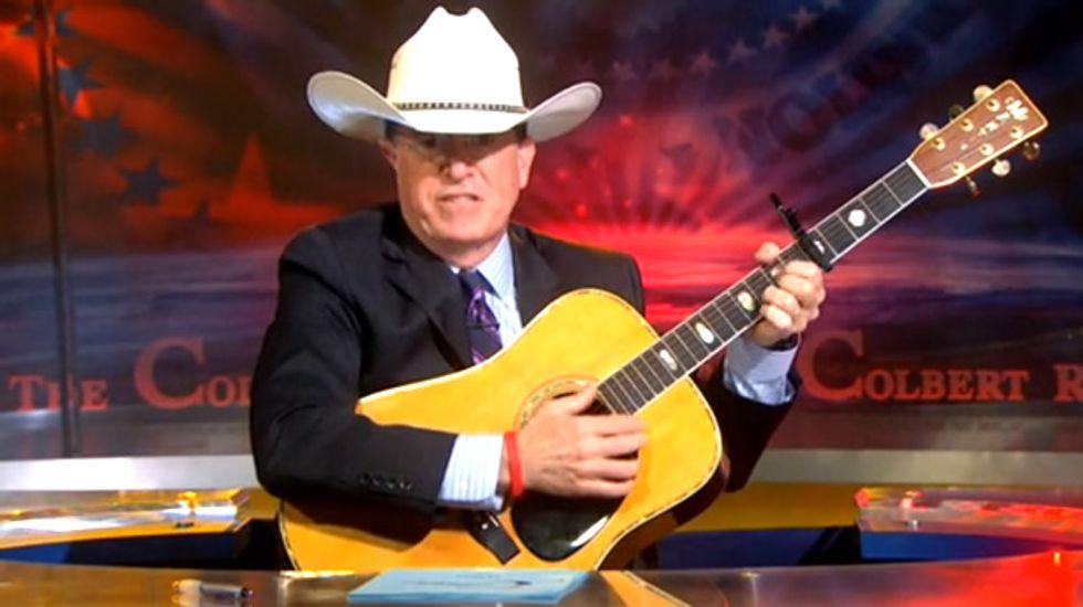 Stephen Colbert sings 'The Ballad of Cliven Bundy' for Fox News's fallen folk hero