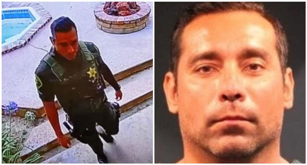 California sheriff's deputy caught on video stealing from deceased resident's home