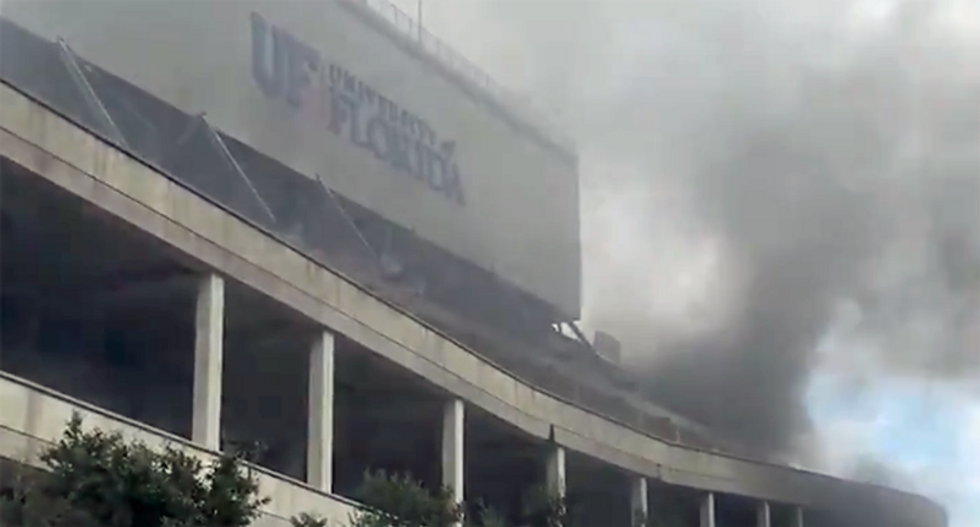 Fire at Florida stadium known as 'The Swamp'