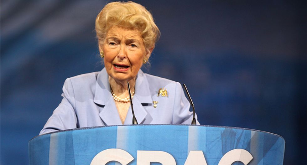 Anti-feminist Phyllis Schlafly's philosophy perfectly captured in 15 disturbing quotes