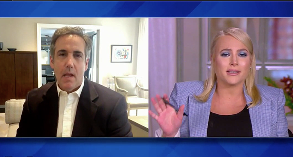 The View's Meghan McCain blows up on Michael Cohen for saying he respected her father