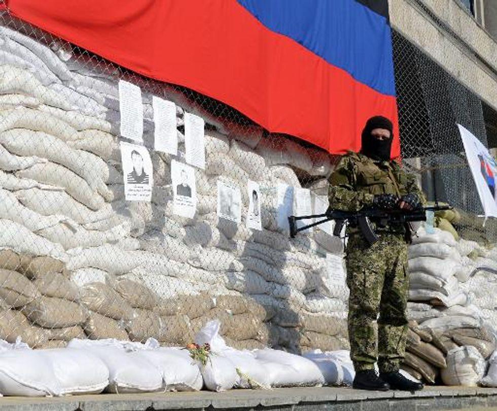 Pro-Russia gunmen seize east Ukrainian town of Kostyantynivka