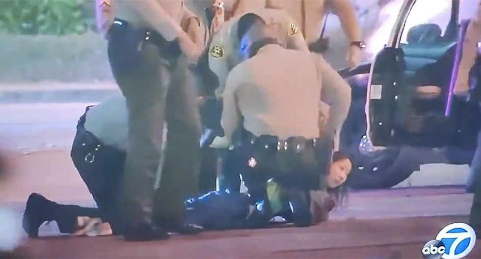 Video catches Los Angeles sheriffs in lie about events outside hospital where ambushed cops were recovering
