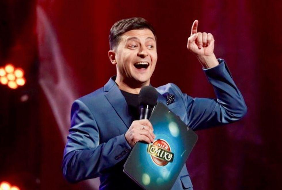 Comedian takes center stage in Ukraine's presidential race