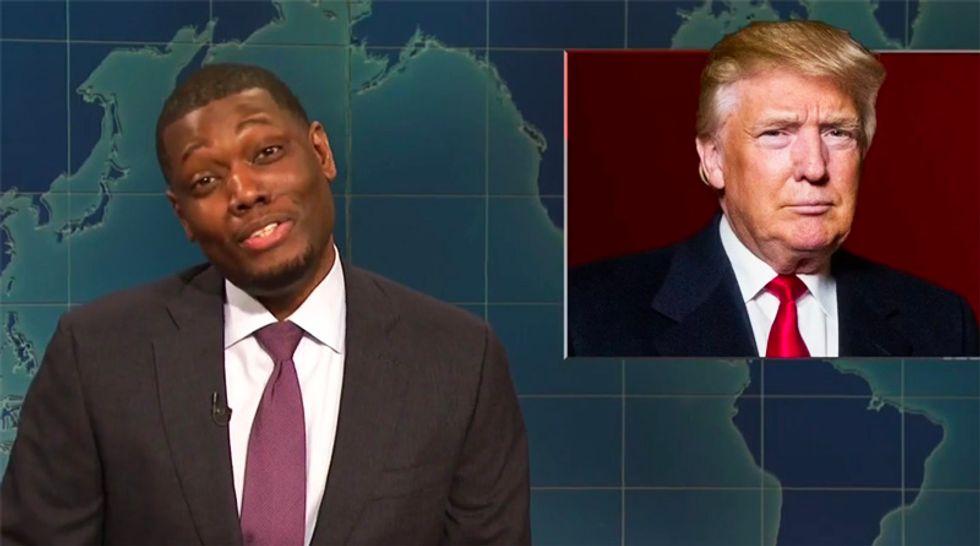 Watch SNL's Michael Che batter Trump for calling Michael Cohen 'weak': 'Oh honey, it's you'