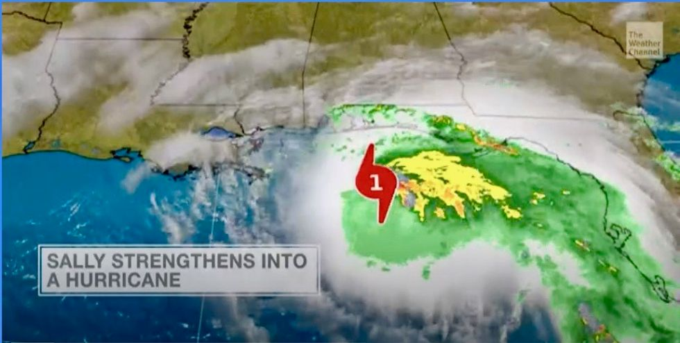Gulf of Mexico storm Sally now a Cat 1 hurricane