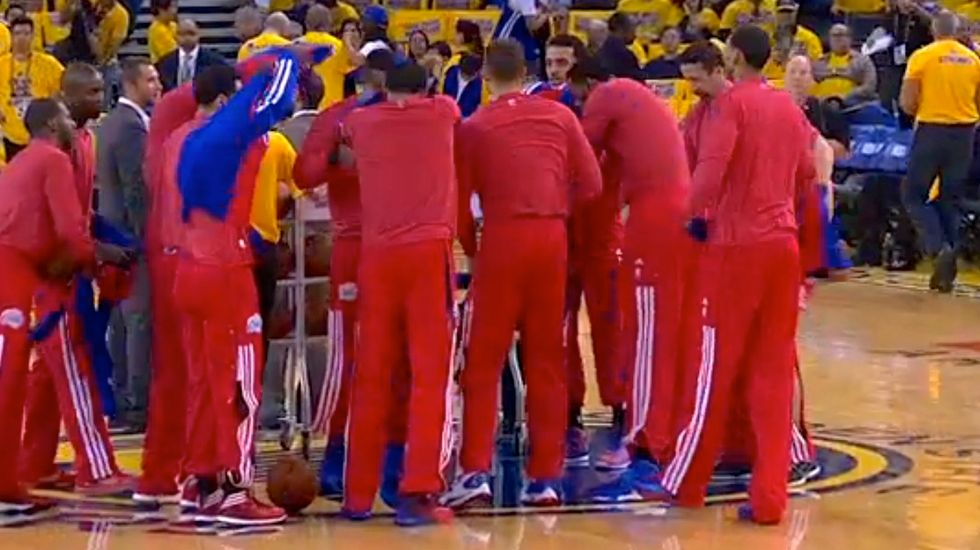 Clippers players stage protest after owner Donald Sterling's alleged racist comments