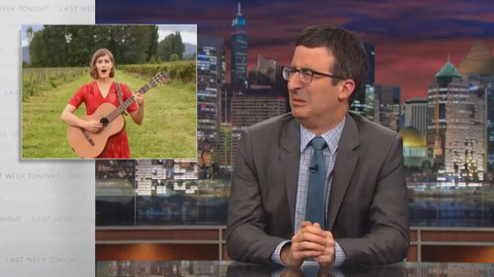 John Oliver and Lisa Loeb mock failure of coveroregon.com in song: 'You f*cking idiots'