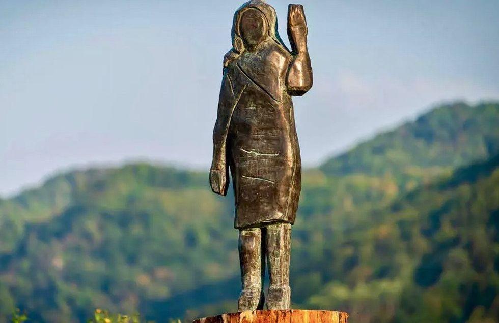 Replica of burned Melania statue unveiled in Slovenia