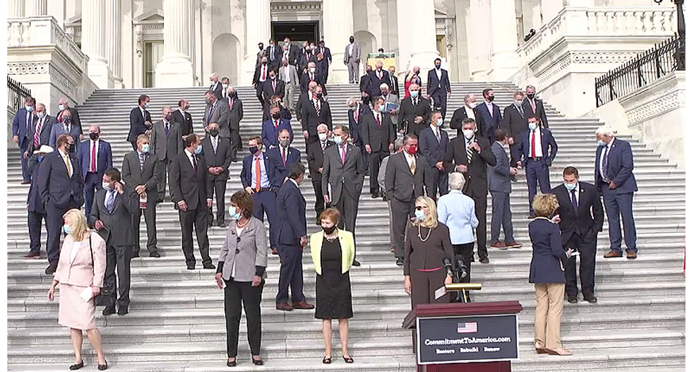 Republicans drowned out ill veterans begging for help with their 'Commitment to America' rally