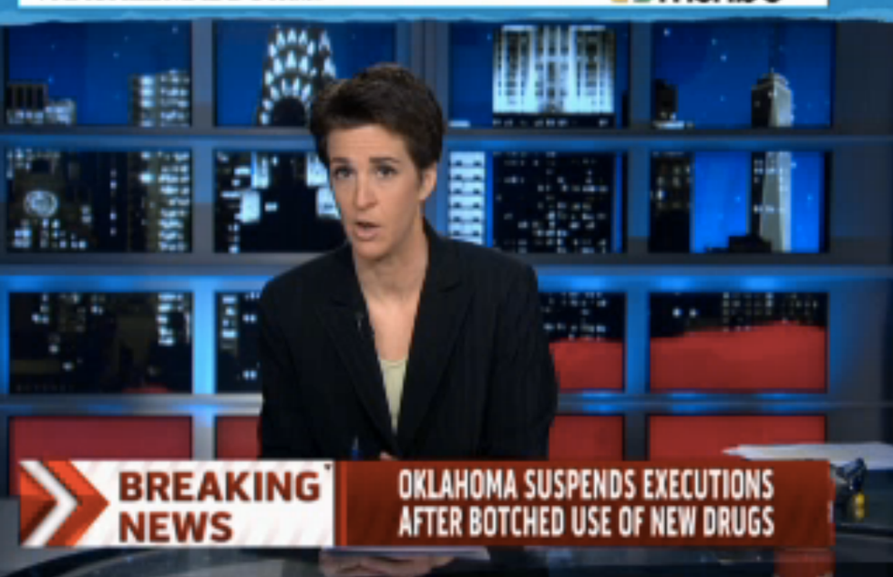 Rachel Maddow guest: Botched Oklahoma execution was like watching medieval torture