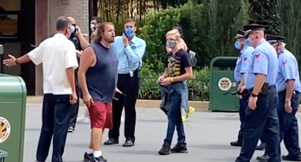 'I'm not crazy!' Anti-masker hauled out of Disney park while ranting about 'A Bug's Life'