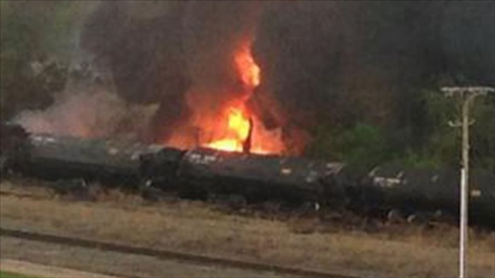 Virginia train crash and explosion sends crude oil spilling into James River