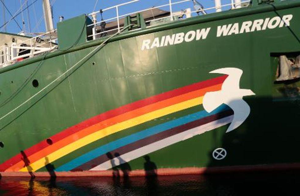 Dutch arrest 30 Greenpeace activists blocking Russian oil tanker