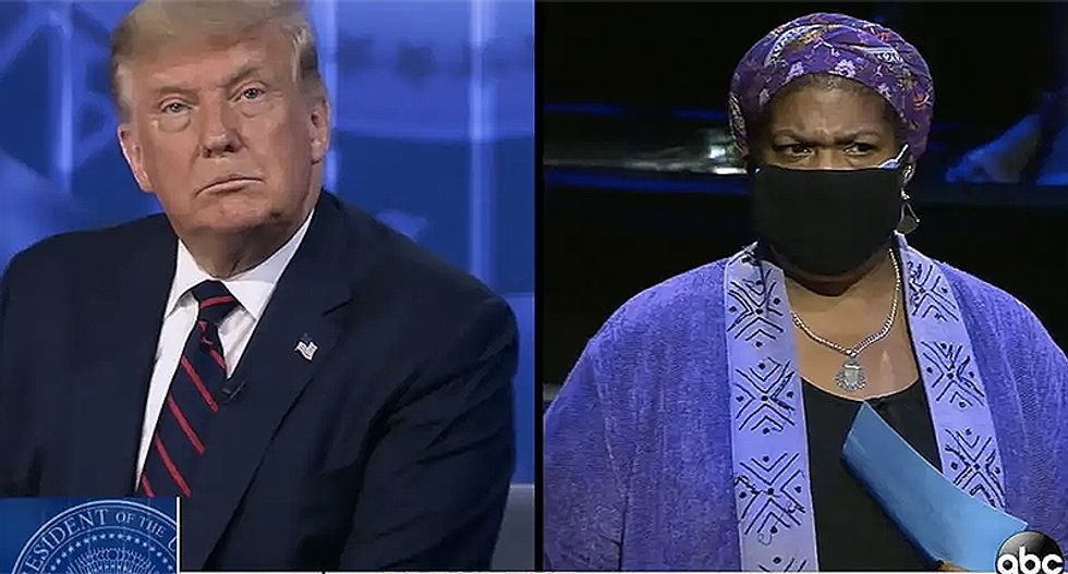 Professor who told Trump to let her finish says she cried after the event: 'He didn't answer any of our questions'
