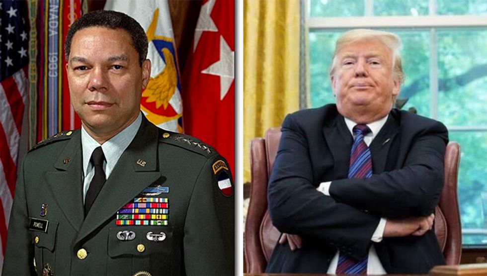 Trump ridiculed for meltdown on Gen. Colin Powell after CNN appearance: 'Cadet Bone Spurs says what?'