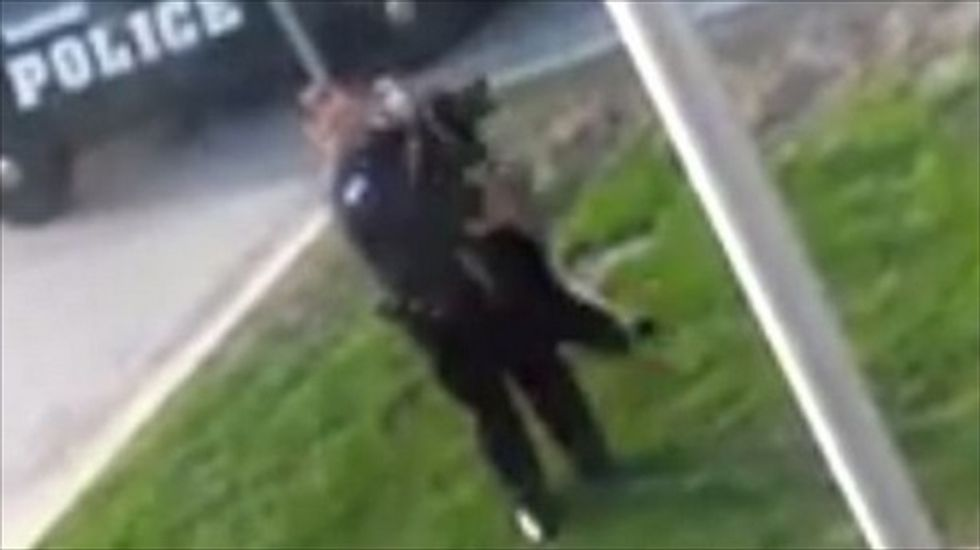 Indiana cop caught on video picking his K-9 partner up by the neck with his leash