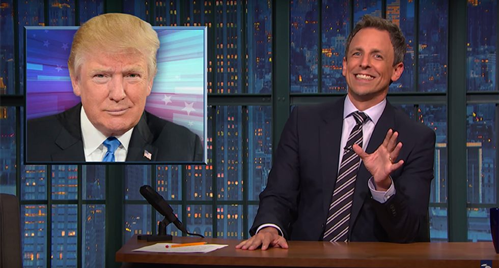 Seth Meyers nails Trump's hypocrisy on pay-to-play and hammers surrogates for kissing his ass