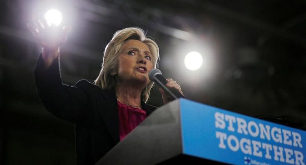 Clinton blasts Trump for comment on security briefing