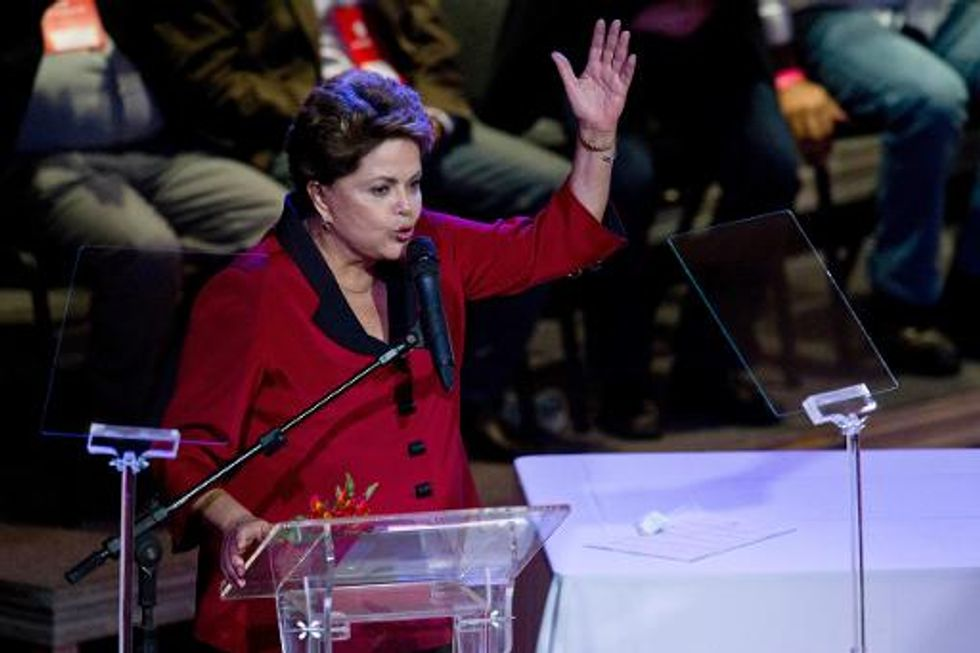 Brazil Worker's Party chooses President Dilma Rousseff for re-election