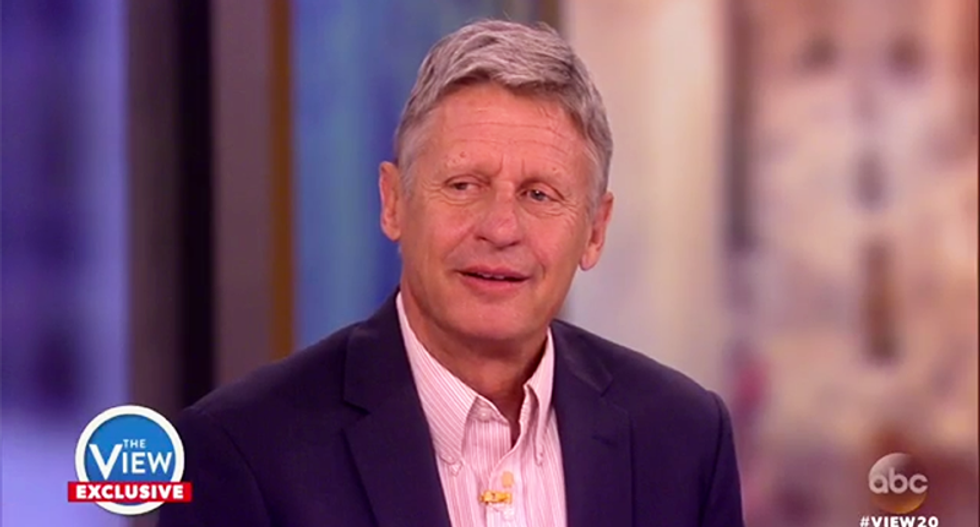 Gary Johnson's unique political admission about Aleppo on 'The View': I f*cked up