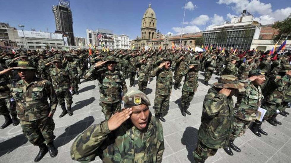 Bolivia military command cancels sacking of 400 officers after night of violent protests