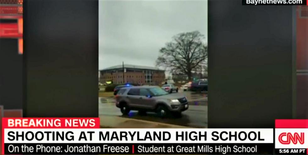 WATCH: CNN interviews 'shaken up' student in locked down classroom at Great Mills High School